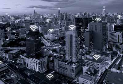 Wifi signals across a city