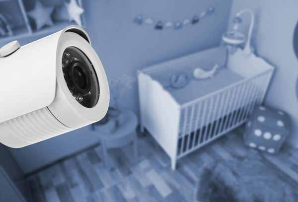 Camera monitoring childs nursery