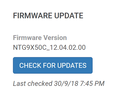 Updating the firmware