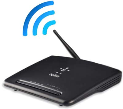 A typical wifi router