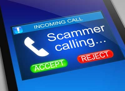 Scammer phoning