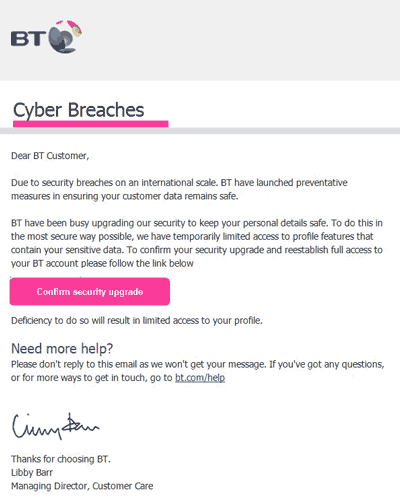 An unexpected email that takes advantage of the WannaCry outbreak
