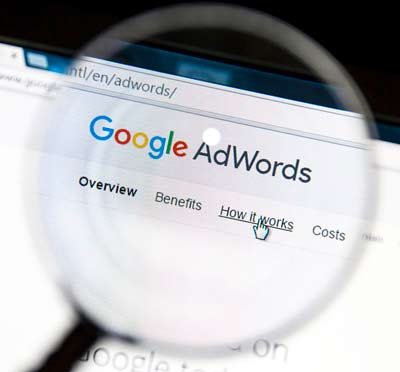 Google AdWords screen