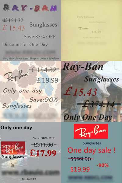 RayBan scam adverts